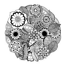 Simple Thanksgiving Free Printable Mandala Coloring Pages Adults 17