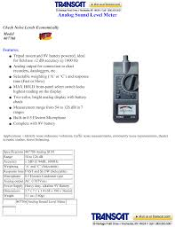Db Meter Chart Extech 407706 Analog Sound Level Meter Manualzz Com