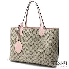kaitorikomachi gucci reversible gg leather tote bag medium gg スプリームキャンバススモーキーピンクショルダーショッピング 368568 a9810 8412 gg reversible