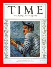 TIME Magazine Cover: Ernest Hemingway - Oct. 18, 1937 - Ernest Hemingway -  Writers - Books