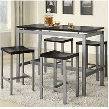 bar height kitchen table sets. pub table set 5 piece dining counter height bar stools dinette kitchen furniture sets