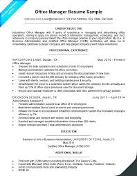 sample resume for office manager position sample resume administrative assistant sample of resume for