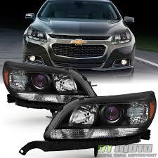2016 Chevy Malibu Fog Light Kit Details About New Left Right 2013 2014 2015 Chevy Malibu Halogen Projector Headlights Black