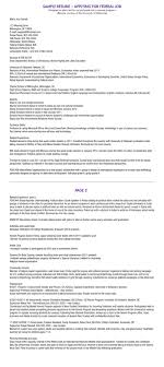 Federal Resume Template Federal Job Resume Template Nicetobeatyoutk 62