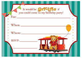 Birthday Invatations Daniel Tiger Birthday Party Invitation Kids Pbs Kids