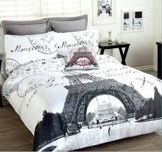 s eiffel tower comforter set