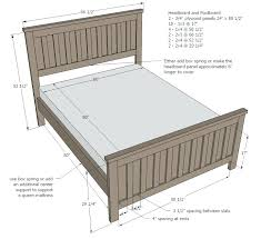 Bed Frame For Head And Footboard Width Of Queen Size Bed Frame ...
