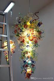 european style antique colorful murano glass chandeliers modern art home decor led light borosilicate glass chandelier lighting chandelier lights modern