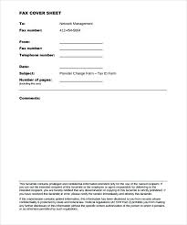 Generic Fax Cover Sheets Sheet Template Sample Blank Disclaimer Page ...