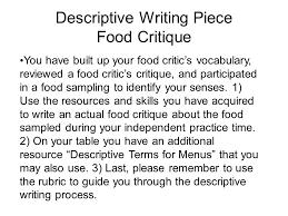 Descriptive Essay Food Descriptive Essay On Food