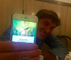 71 years old famous Italian singer Gianni Morandi got his first Dragonite  and shared the catch with his fans on Facebook : pokemongo