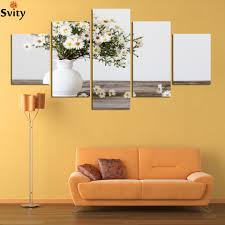 Modern Wall Paintings Living Room Pink Rose Flowers Pictures Promotion Shop For Promotional Pink