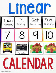 Linear Calendar Kit Preschool Calendar Preschool Calendar