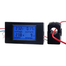kwh meter 100a ac digital power kwh watt meter volt amp voltmeter ammeter open close ct