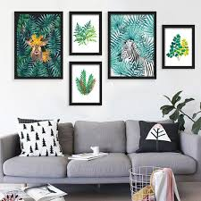 2019 <b>Nordic Style Watercolor Plant</b> Tropical Leaf Flower Cactus ...