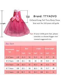 4 Year Girl Dress Size Chart Amazon Com Ttyaovo Girls Sleeping Beauty Princess Aurora