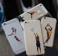 lebron dunking apple logo case. phone case for iphone 6 transparent hard kobe lebron jordan curry westbrook clear cover 4.7\u0027\u0027 on aliexpress.com | alibaba group dunking apple logo