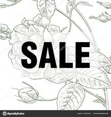 Summer Sale Concept Summer Background With Tropical Flowers