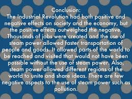 positive and negative effects of the industrial revolution essay positive and negative effects of the industrial revolution essay industrial revolution positive and negative effects essay