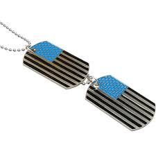 summer um jewelry army style mens 2pcs enamel american flag dog tag pendant necklace 59029