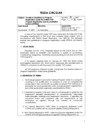 Example Letter Of Intent For Tesda Accreditation