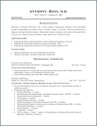 Physician Assistant Resume Template Medical Curriculum Vitae