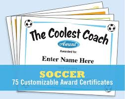 Award Paper Template Custom Soccer Certificates Editable Soccer Awards Templates Child