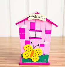 Decorated Money Box Creatice Cartoon Wooden Money Box Piggy Bank Children Toy Desk 41