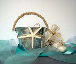 Beach Wedding Accessories Decorations Beach Wedding Flower Girl Basket Pail Starfish Wedding Favor 100