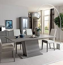 dining living room furniture. Marino Collection, Modern Fixed/Extending Dining Table In Grey Saw- Marked Oak Effect Living Room Furniture G