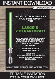 star wars birthday invite template star wars party invitations template birthday party