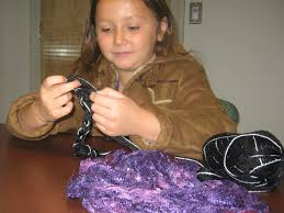 Culpeper girl makes scarves in support of Services to Abused Families |  Archives | dailyprogress.com