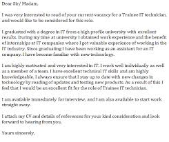 trainee it technician cover letter example forumslearnistorg tech cover letter