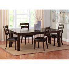 Abaco Table and 4 Chairs Brown