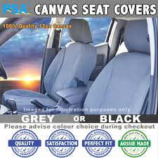 psa canvas seat covers toyota hilux workmate dual cab manual full set 7 2016 onwards