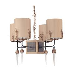 go designer chandelier with barbed wire lampshades and crystal