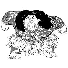 Moana Coloring Pages Getcoloringpagescom