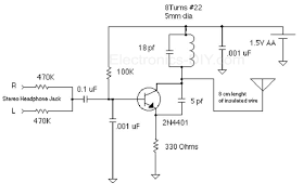 circuit zone com electronic projects electronic schematics diy 1 5v fm broadcast transmitter