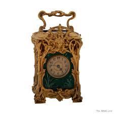 art nouveau bronze and enamel carriage clock manhattan art and antiques center