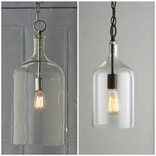 glass bottle pendant lights jar light nz ceiling bell jug wine kit diy bottle pendant