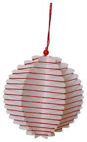 Casalanas Christbaumschmuck Rote 3d Kugel 8x8 Cm Rot Weiß Art Nr 3368