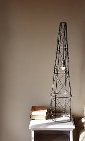 industrial lamp of a tomato cage via shelterness