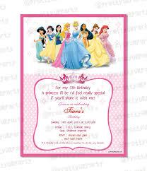 Disney Invitation Templates Disney Princess Birthday Invitation
