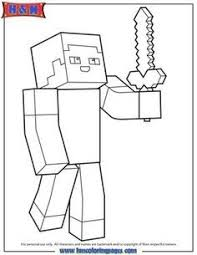 Awesome Minecraft Diamond Steve Coloring Pages Doiteasyme