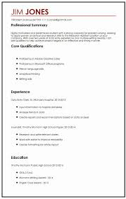 Curriculum Vitae Samples Curriculum Vitae Template Student Lovely Cv Sample For High