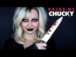 bride of chucky tiffany transformation makeup tutorial