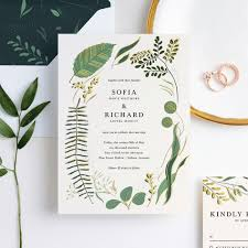 Wedding Invitation With Photo Rustic Forest