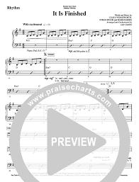It Is Finished Rhythm Chart Worshipteam Charts Praisecharts