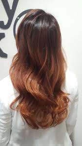 Copper Red Ombre Made With Tinta Keune Haircosmetics And Oolaboo