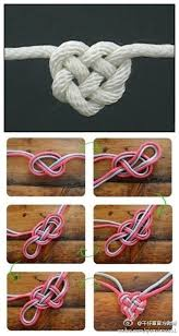1 rope knotted heart